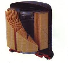 Visualização por dentro de um filtro de óleo