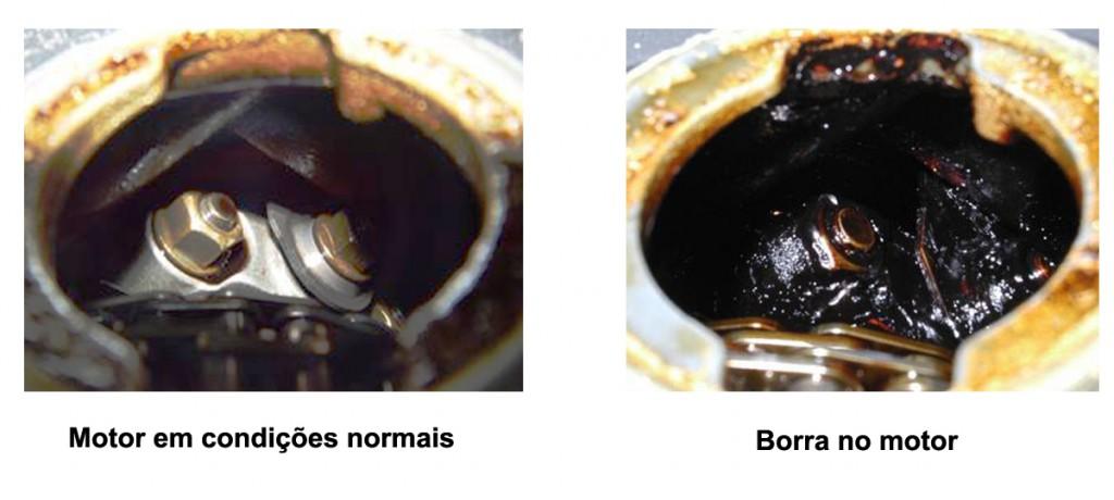 Comparação borra do motor